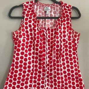 Harve Benard Red Polka-Dot Shirt